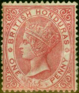 British Honduras 1887 1d Carmine SG19 Good Mtd Mint