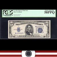 1934-C $5 SILVER CERTIFICATE PCGS 58 PPQ  Fr 1653  69632-DH
