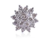 Pave 0,20 Cts Runde Brilliant Cut Natürliche Diamanten Nase Stud In 750 18K Gold