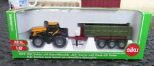 M92 1/87 JCB TRACTOR WITH HOOK-LIFT TRAILER 1855 SIKU