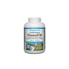 Natural Factors Omega Factors Organic Flaxseed Oil, 90 Soft Gels