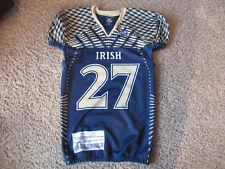 Notre Dame Vendor Manufacturer Sample Football Jersey Rawlings L Unique!