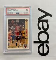 Michael Jordan PSA 7 Vintage Collector Card 1991 Upper Deck #44 INVEST Slabbed