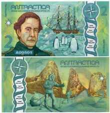 ANTARCTICA 2 DOLLARS 2020 POLYMER P NEW DESIGN GREEN
