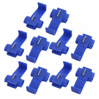 50Pcs Quick Splice Spade Terminals Electrical Wire Connector Assortment Kit Blue