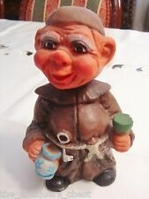 Heico Happy Monk Bobblehead Nodder West Germany 1960s, RARE[*A]