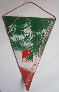 PZTS Polish TABLE TENNIS federation pennant flag Poland Tenis stołowy Polska