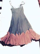 Vtg Size 4 Betsey Johnson Silk Chiffon Mermaid Cha Cha Dress Blue/ Pink Prom