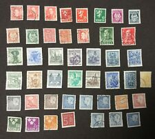 LOT OF 46 NORWAY AUSTRIA SWEDEN POSTAGE STAMPS COLLECTED IN 1960'S COLLECTION