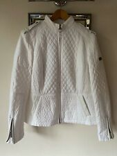 New Barbour Black Streak Fitted Jacket Size 16 White