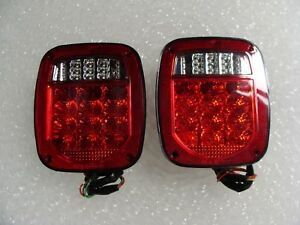 UNIVERSAL TRUCK JEEP LED RED LED TAIL LIGHTS LEFT and RIGHT SIDES NEW