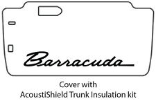 1965 1966 Plymouth Barracuda Trunk Rubber Floor Mat Cover with MA-028 Barracuda