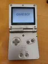 Z59 Nintendo Game Boy Advance SP Silver/Platinum Handheld System AGS-001