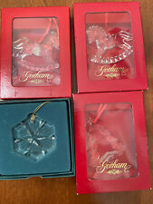 Christmas Crystal Ornaments - Lot Of Four (4)