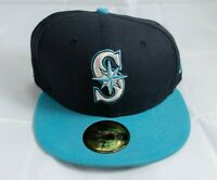 MLB New Era 5950 Diamond Seattle Mariners Fitted Hat Cap Size 7 1/4 FREE SHIP
