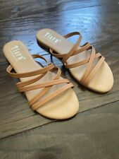NWOT tan strappy sandals size 5.5 tiara los angeles never been worn