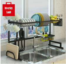 Dish Drying Rack Over Sink Display Stand Drainer Stainless Steel Cutlery Holder