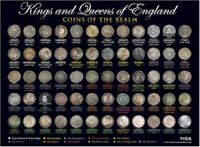 Kings and Queens of England Coin poster A3 size (29.7cm x 42cm) [KQCPA3]