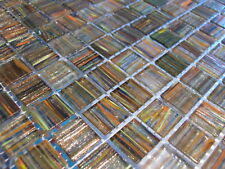 Glasmosaik Fliesen Mosaik GOLDENE SEIDE MURANO ART exclusiv Sauna Dusche Pool