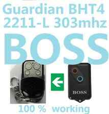 Boss Steel Line Garage Door Remote Control BHT4 2211-L 303mhz Guardian opener