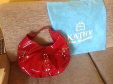 borsa tracolla pelle lucida rossa Kathy Van Zeeland grande