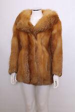 Vintage ginger Real Harrods Red Fox fur 60s 70s retro big collar coat jacket S