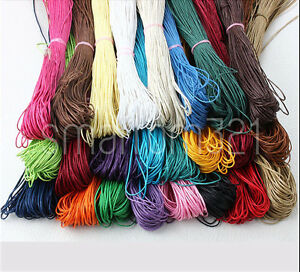 Waxed Cord 1.5mm or 1mm String Thread Jewellery Bracelet Necklace Craft