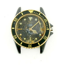 TAG HEUER 1000 980.029B BLACK DIAL 2-TONE PVD S.S. WATCH HEAD FOR PARTS/REPAIRS