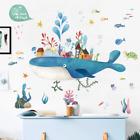 Cartoon Fairy Whale Island Wall Sticker Kid Baby Rooms Home Decoration Pvc Mural