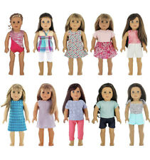 """Fits 18"""" American Girl Doll Clothes, My Generation Doll & More - 10 Outfits Lot"""