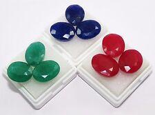 Natural 65.60 Ct/ 9 Pcs Tremendous Oval Shape Emerald, Ruby & Blue Sapphire Gems