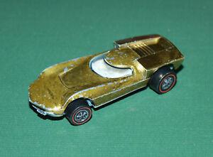 Vintage Hot Wheels Diecast Redline Turbofire in Gold, 1969