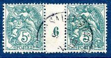 Paire N°111 millésime Blanc 1906 en oblitéré