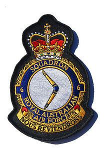RAAF 6 Squadron Crest Patch - New