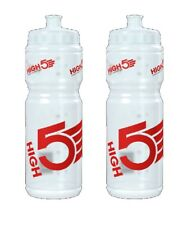 2 x HIGH5 Cycling Sports WATER DRINKS BOTTLES Large 750ml New Free UK Delivery