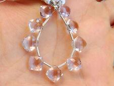 AAA Pink Amethyst Faceted Cushion Briolette Semi Precious Gemstone Beads