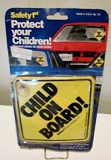 NOS Safety 1st 1982 Child On Board! Sign The Original Baby Sign Made USA