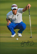 Jin JEONG SIGNED Autograph 12x8 Photo AFTAL COA South Korean Golf St Andrews