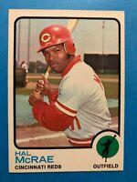 1973 TOPPS BASEBALL HAL MCRAE CARD #28 CINCINNATI REDS