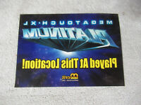 MEGATOUCH xl platinum MERIT window STICKER arcade game