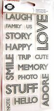 Scrapbooking Words Fiskars Clear Acrylic Stamp Set by Teresa Collins NEW!