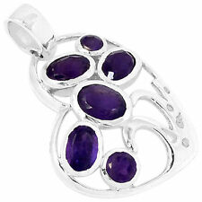 Sterling Silver Pendant Jewelry Aaap1277A 2.77cts Amethyst 925