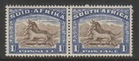 South Africa - 1939, 1s Brown & Chalky Blue - Horizontal Pair - MNH - SG 62