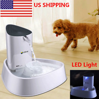 Automatic Electric Pet Cat Dog Water Fountain Drinking Bowl Dish Dispenser 1.5L
