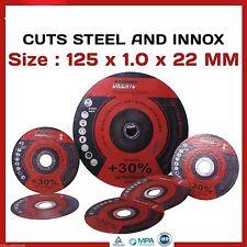 "50 X 125MM 5"" CUTTING DISCS WHEELS ANGLE GRINDER CUT OFF METAL STEEL THIN FLAP"