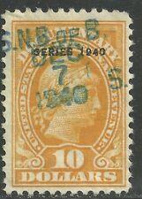 U.S. Revenue Documentary stamp scott r281 - $10.00 Overprint issue of 1940 - #5