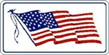 SET OF 4 PATRIOTIC USA FLAG PRISMATIC DECAL STICKER 3X6 INCH #2