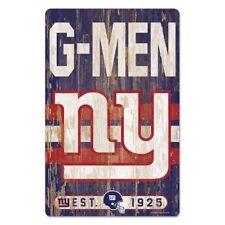 Nfl Football New York Giants Slogan Wood Sign Wooden Wall Decoration Decor