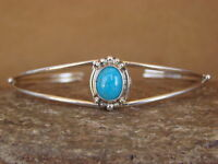Native American Jewelry Sterling Silver Turquoise Bracelet! Mariano