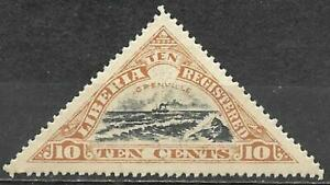 Liberia 1919 Registration Stamp Scott #F16 Mint 10 Cents Ship Grenville